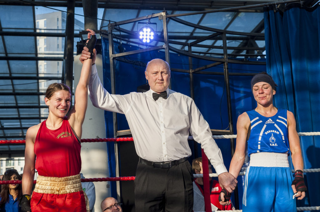 Boxing at the Market, The Chrisp Street Market Show, London, UK, 29/03/2014 © Dosfotos
